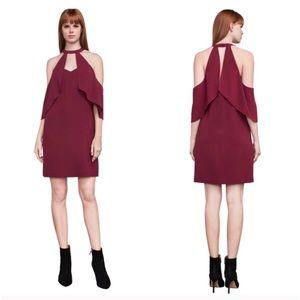 BCBGMaxAzria Duran Cold Shoulder Halter Dress